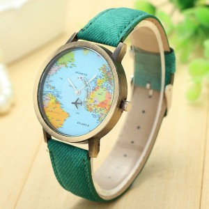 Travel Plane Map Watch