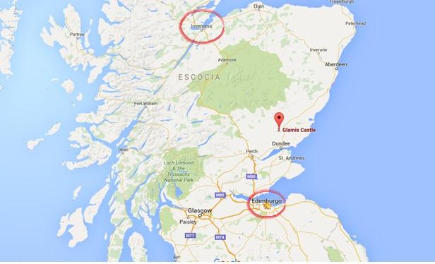 Percurso de Edimburgo para Inverness